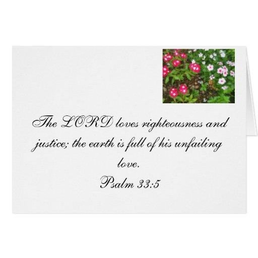 Un verso de los salmos sobre el amor de dios tarjeta pequeña