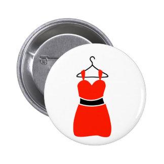 Un vestido precioso en una suspensión pin redondo de 2 pulgadas