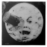 Un viaje a la luna azulejo cuadrado grande