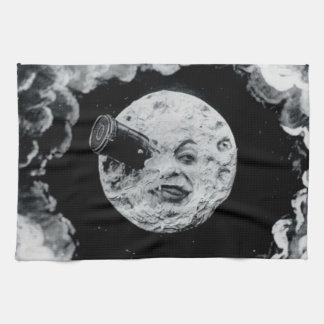 Un viaje a la luna (B&W) Toallas