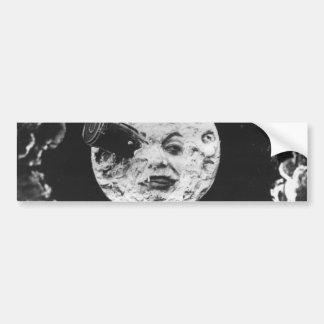 Un viaje a la luna pegatina de parachoque