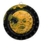 Un viaje a la luna (dorada) tablero de dardos