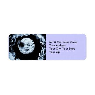 Un viaje a la luna etiqueta de remite