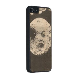 Un viaje a la luna funda de madera para iPhone 5