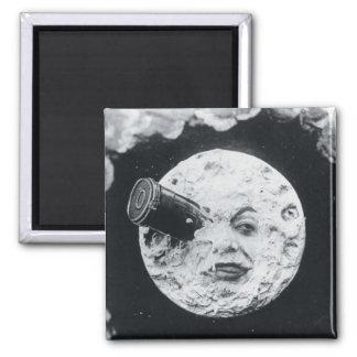 Un viaje a la luna imán de frigorífico