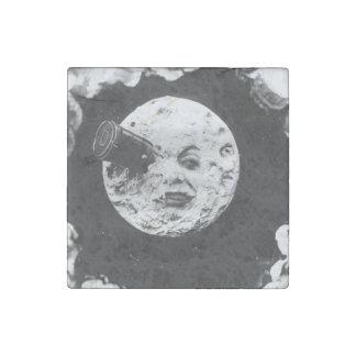 Un viaje a la luna imán de piedra