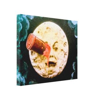 Un viaje a la luna impresión en lona estirada