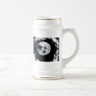 Un viaje a la luna jarra de cerveza