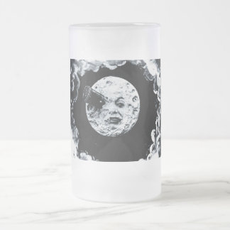 Un viaje a la luna jarra de cerveza esmerilada