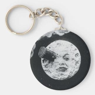 Un viaje a la luna llavero redondo tipo pin