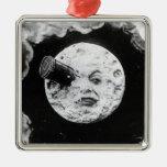 Un viaje a la luna ornamento de navidad