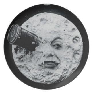 Un viaje a la luna platos para fiestas