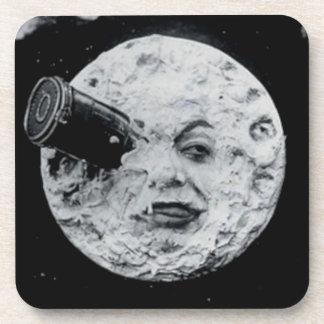 Un viaje a la luna posavasos