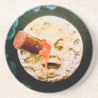 Un viaje a la luna posavaso para bebida
