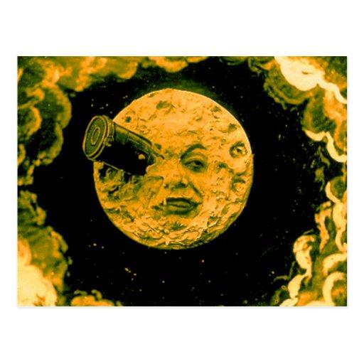 Un viaje a la luna postales