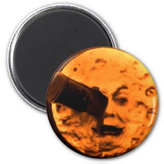 Un viaje a la luna (sepia de la naranja de sangre) imanes