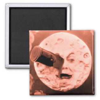 Un viaje a la luna (sepia subió) imán para frigorífico