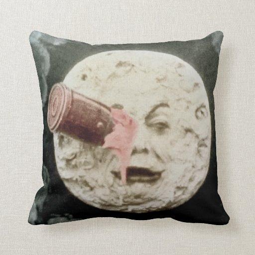 Un viaje a la luna (tinte silenciado de la mano) almohadas