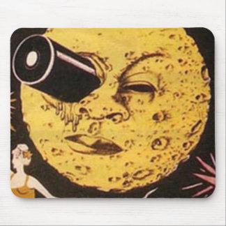 Un viaje al cartel de película de la luna tapetes de raton