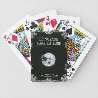 Un viaje al cine francés retro del vintage de la baraja cartas de poker