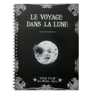 Un viaje al cine francés retro del vintage de la libros de apuntes