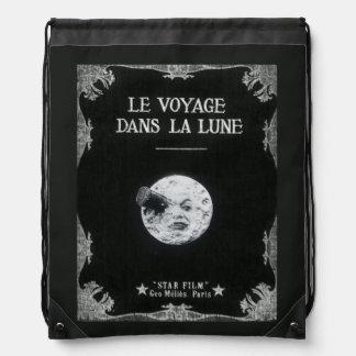 Un viaje al cine francés retro del vintage de la mochilas