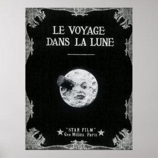 Un viaje al cine francés retro del vintage de la póster