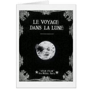 Un viaje al cine francés retro del vintage de la tarjeta de felicitación