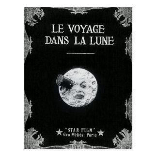 Un viaje al cine francés retro del vintage de la tarjetas postales