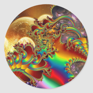 Un viaje al infinito pegatina redonda