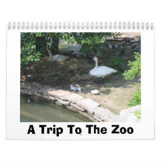 Un viaje al parque zoológico calendario de pared