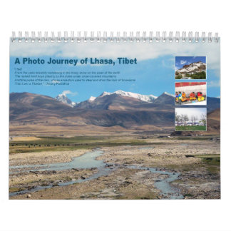 Un viaje de la foto de Lasa, Tíbet - calendario