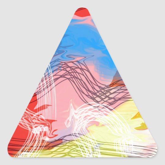Un viaje en la tormenta pegatina triangular