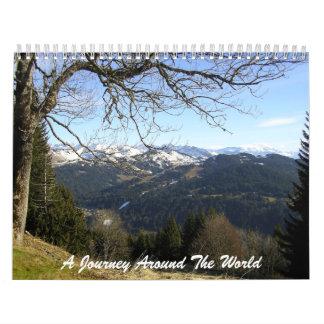 Un viaje en todo el mundo calendarios
