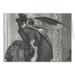 Un Victorian del beso/un vampiro con alas gótico Felicitacion