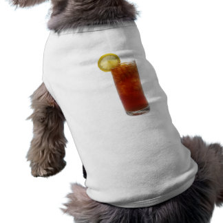 Un vidrio de té helado camisetas de mascota