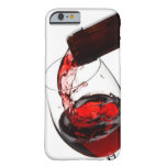 Un vidrio de vino rojo funda de iPhone 6 barely there