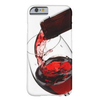 Un vidrio de vino rojo funda barely there iPhone 6
