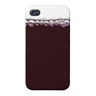 Un vidrio de vino rojo iPhone 4 cobertura