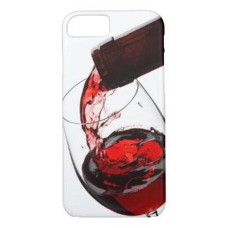 Un vidrio de vino rojo funda iPhone 7