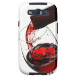 Un vidrio de vino rojo galaxy SIII carcasas