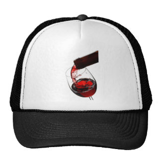 Un vidrio de vino rojo gorro