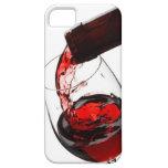 Un vidrio de vino rojo iPhone 5 cobertura
