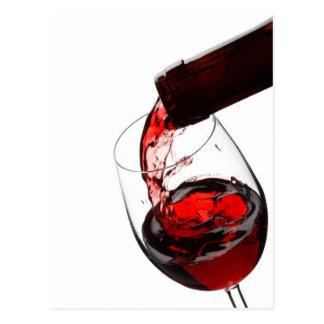 Un vidrio de vino rojo tarjeta postal