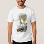 Un vidrio del vino blanco 2 playeras