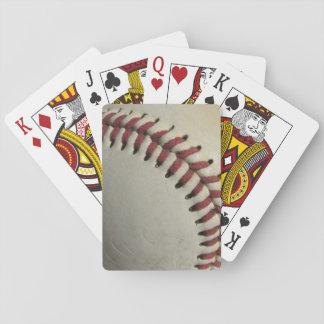 Un viejo béisbol baraja de póquer