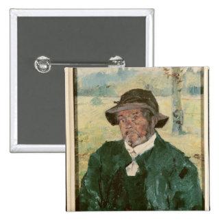 Un viejo hombre, Celeyran, 1882 Pin Cuadrado