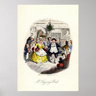 Un villancico del navidad - Ball de Sr. Fezziwigs Póster