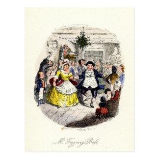Un villancico del navidad - Ball de Sr. Fezziwigs Tarjetas Postales