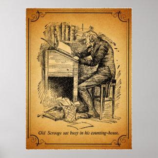 Un villancico del navidad: Scrooge viejo Impresiones